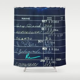 Library Card 23322 Negative Shower Curtain