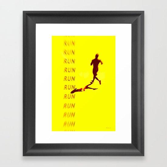 Run Run Run Framed Art Print