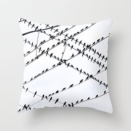 The Grackles Throw Pillow