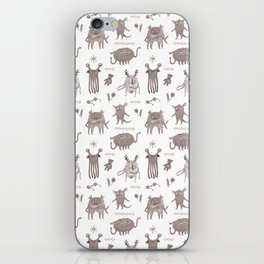 Cute Monster crew pattern, hand drawn iPhone Skin