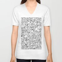 it crowd V-neck T-shirts featuring Crowd 1 by PAIartist