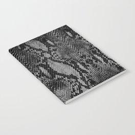 Black and Gray Snake Skin Print Notebook