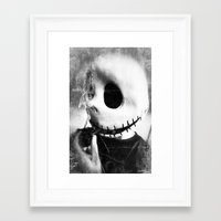 jack skellington Framed Art Prints featuring smoking jack skellington by Joedunnz