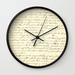 Vintage Writing Wall Clock