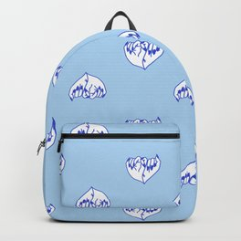 Best Friend Galentine's Day Pinky Promise Pattern in Blue Backpack