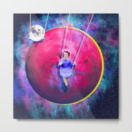 Saturn's Swings Metal Print