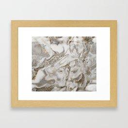 Crema marble Framed Art Print