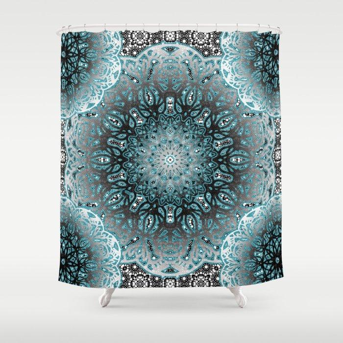 Aqua Nouveau Mandala Shower Curtain