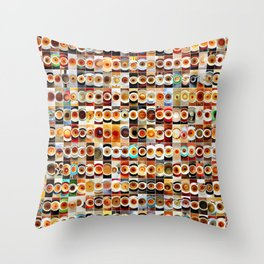 2013 in Empty Coffee Cups Throw Pillow