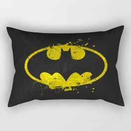 Bat man's Splash Rectangular Pillow
