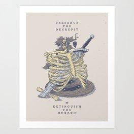 Preserve the Decrepit Art Print