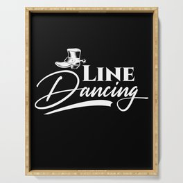 Line Dancing Cowboy Country Line Dance Music Gift Serving Tray