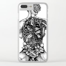 Blossom Surgery : Torso. Clear iPhone Case