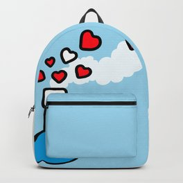 Blue and Red Laboratory Flask Backpack