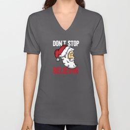 Don't Stop Believin Christmas Gift Unisex V-Neck