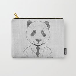 Geometric Panda Carry-All Pouch
