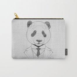 Geometric Panda Carry-All Pouch