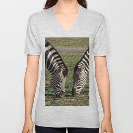 2 Zebras Unisex V-Neck