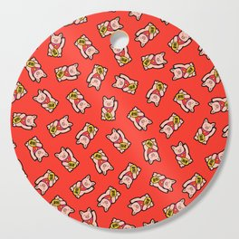Lucky Pig Pattern Cutting Board