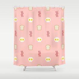 Skulls U0026 Bacon   Pink Shower Curtain
