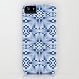 Indian Blanket Blue iPhone Case