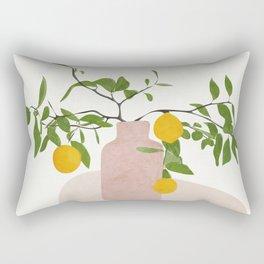Lemon Branches Rectangular Pillow