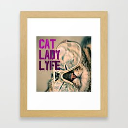 Cat Lady Lyfe Framed Art Print