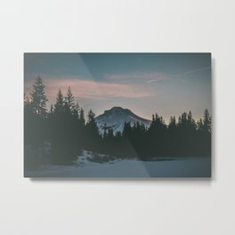 Frozen Mirror Lake Metal Print