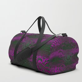 Wild Emerald Green Purple Circle 3D Abstract Duffle Bag