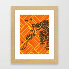 Screenprinted Giraffe Framed Art Print