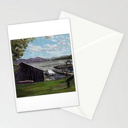 Lake George, NY Boathouse and Boat Stationery Cards