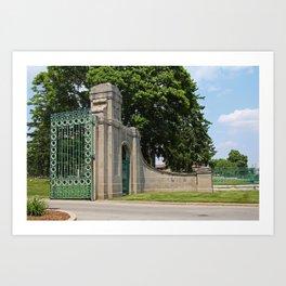 Calvary Cemetery Gate III Art Print