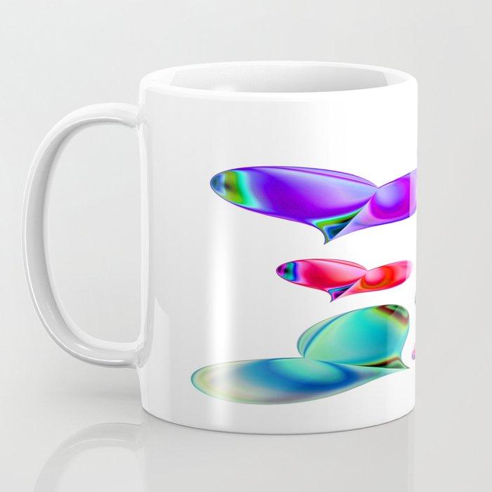 Love Hearts - white Valentine Coffee Mug