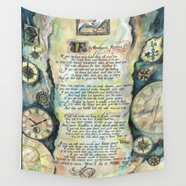 "Calligraphy of the poem ""IF"" by Rudyard Kipling Wall Tapestry"