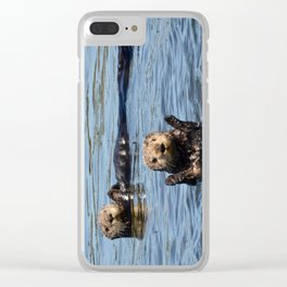 sea otter hello Clear iPhone Case