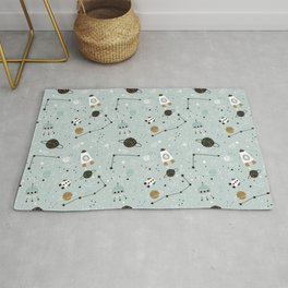 Space ships Animals Prints patterns Rug