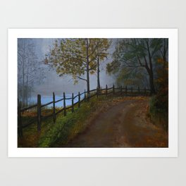 Old Road - Acrylic Painting Art Print