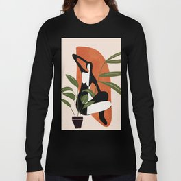 Abstract Female Figure 20 Long Sleeve T-shirt