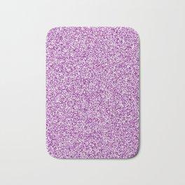 Spacey Melange - White and Purple Violet Bath Mat