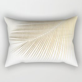 Palm leaf synchronicity - gold Rectangular Pillow