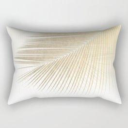 Palm leaf synchronicity - gold Rectangular Pillow