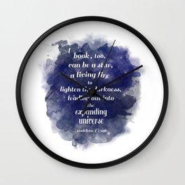 Expanding Universe Wall Clock