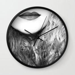 Portrait Half Wall Clock