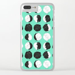Kitty Lunar Cycle_Minty Clear iPhone Case