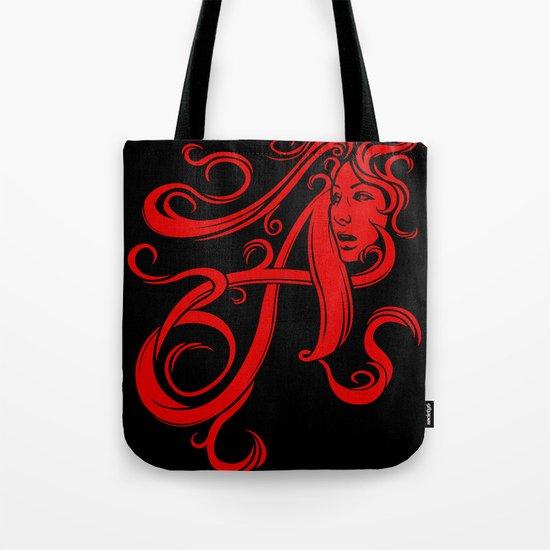 Scarlet Letter Tote Bag