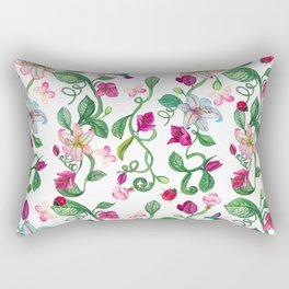 Romantic Flower Pink Rectangular Pillow