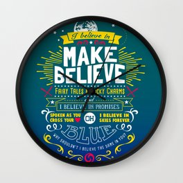 Gamer Geek Chic Earthbound Mother Inspired I Believe in You! Wall Clock