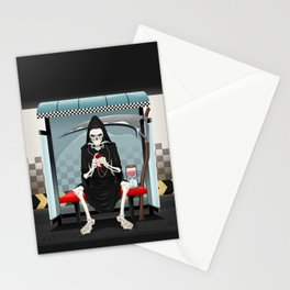 Meetings on the subway station. Stationery Cards