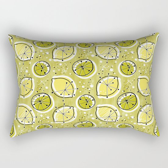 Atomic Lemonade_Green Rectangular Pillow