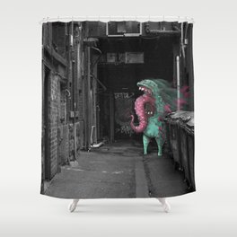 Unseen Monsters of Melbourne - Dimples McGee Shower Curtain